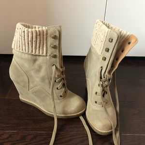 Report Suede Wedge hiking boots